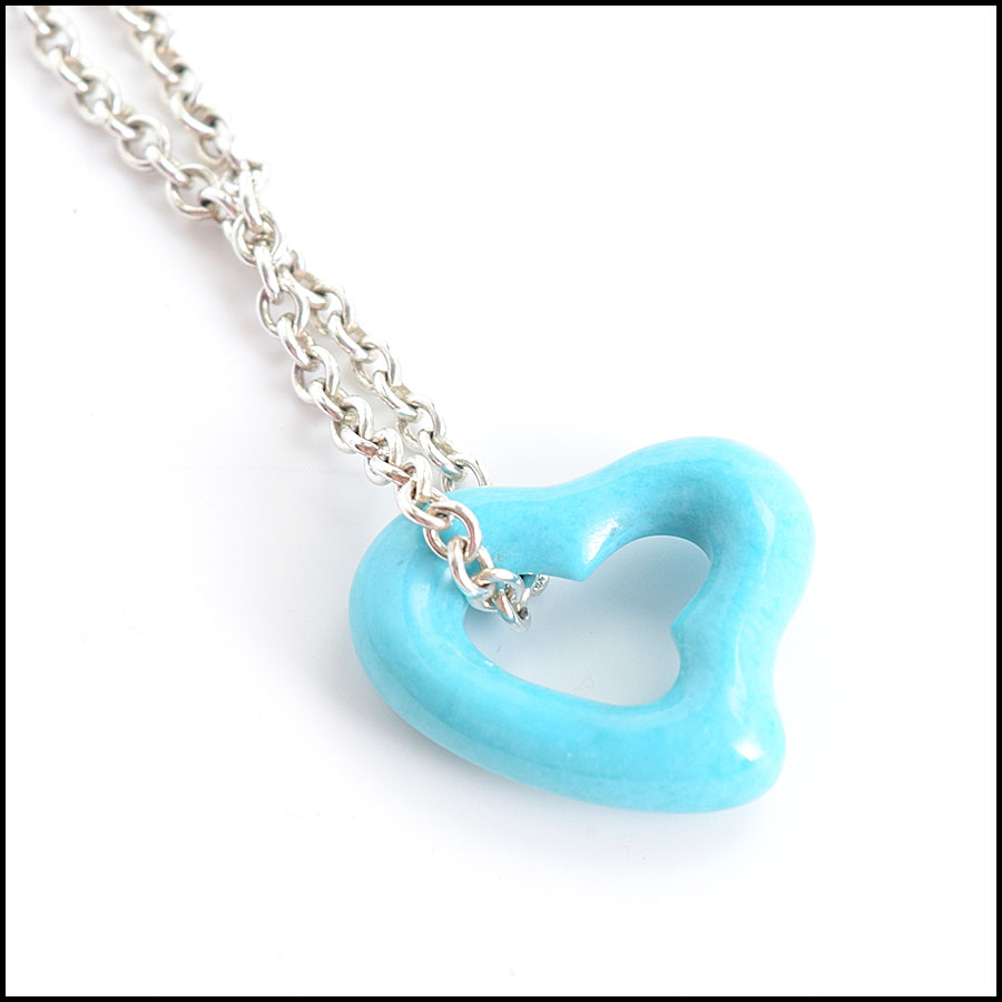 RDC8970 Tiffany Open Heart Necklace close up