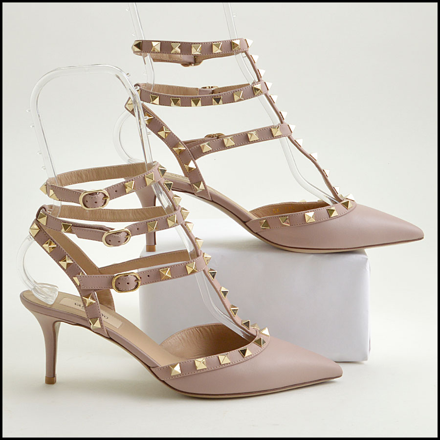 RDC8790 Size 38 Valentino 3 Buckle Rockstud Cage Heels side