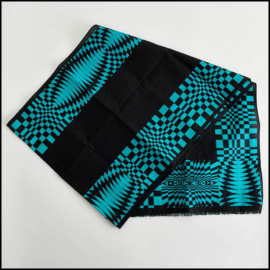 RDC8153 Versace Black and Teal scarf