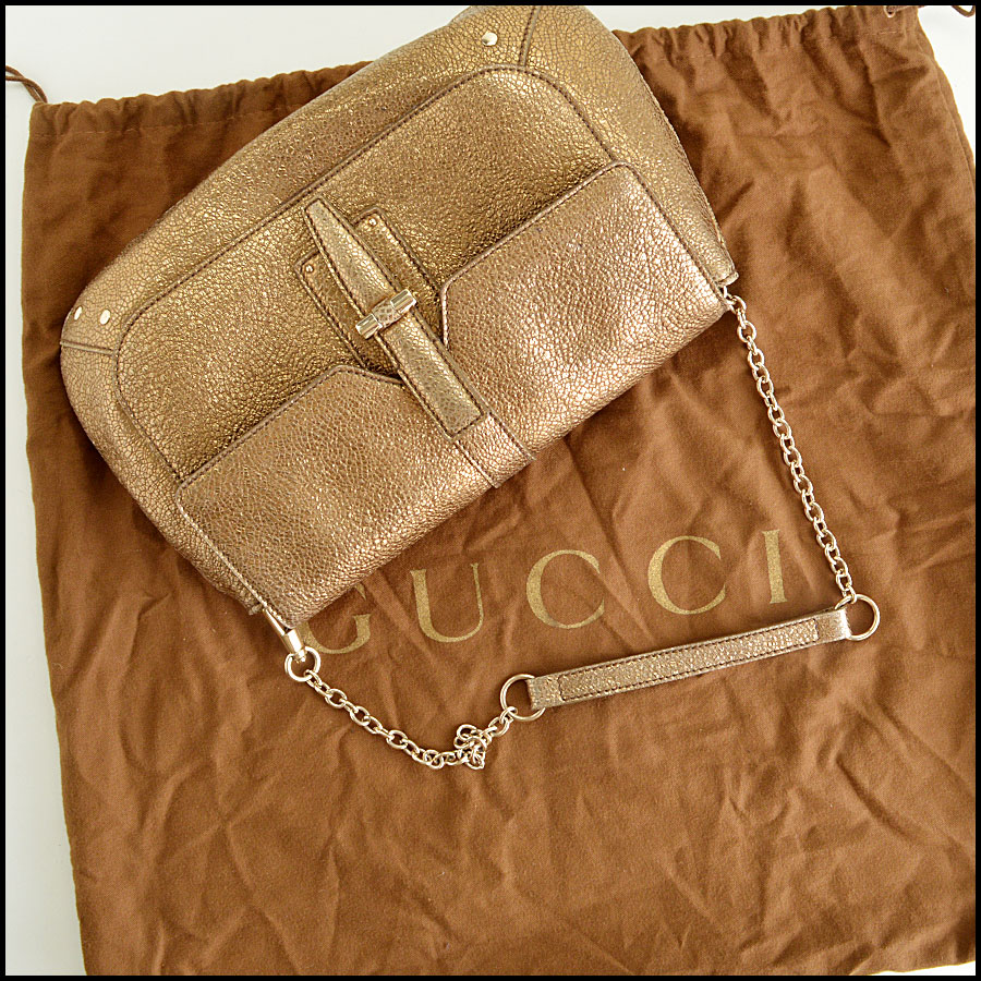 YSL Gold Leather Emma Chan Shoulder Bag Extras