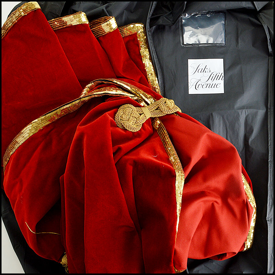 YSL Red Velvet Cape Comes With