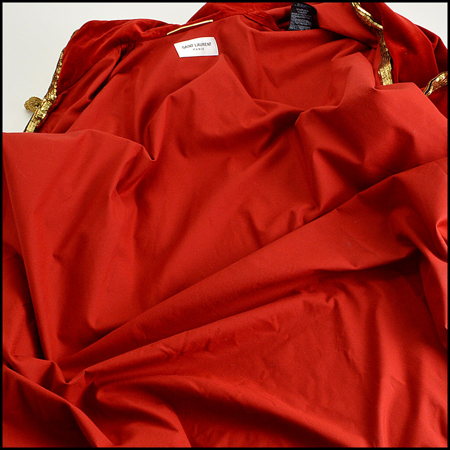 YSL Red Velvet Cape Inside