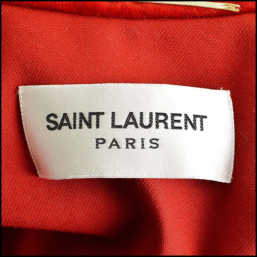 YSL Red Velvet Cape Logo Tag