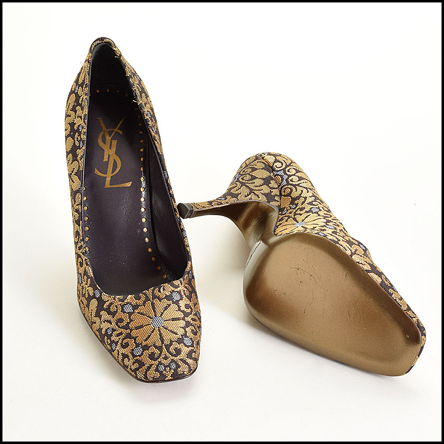 RDC9316 YSL Floral Brocade Pumps