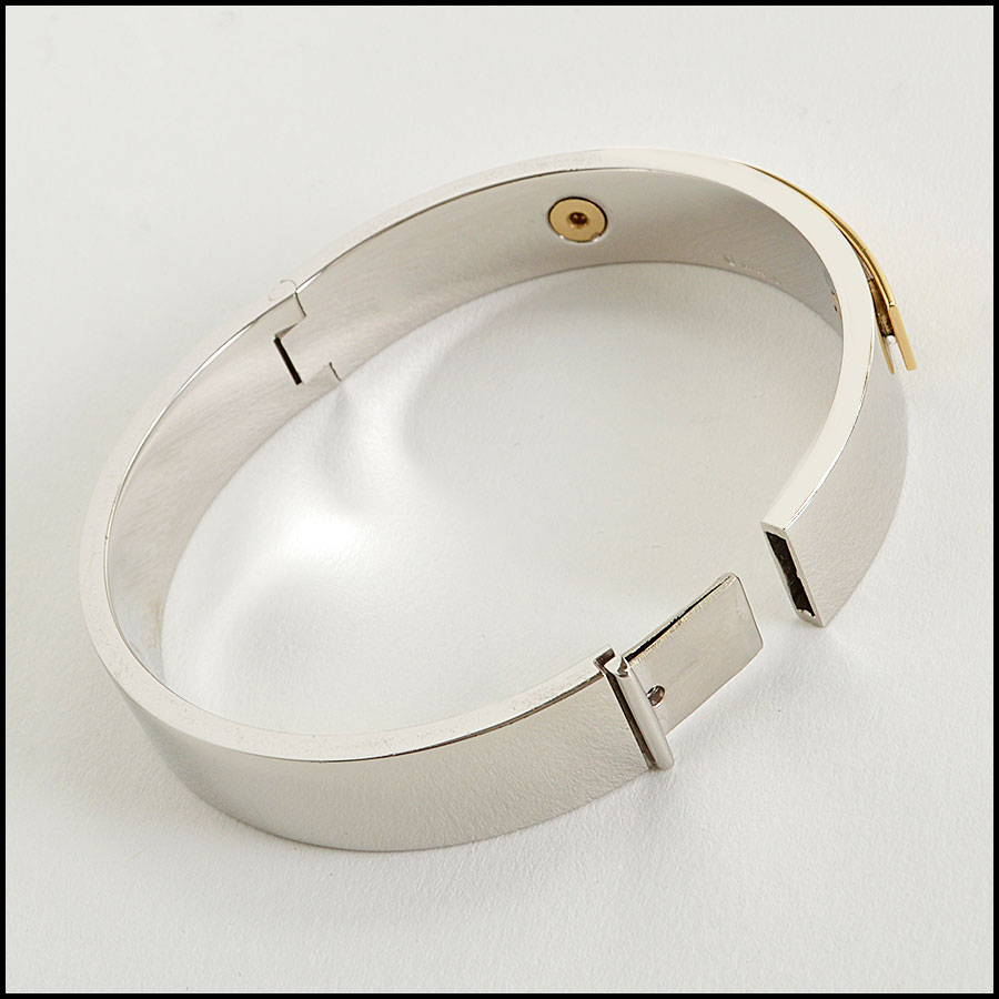 RDC8045  Saint Laurent Silver and gold bangle back