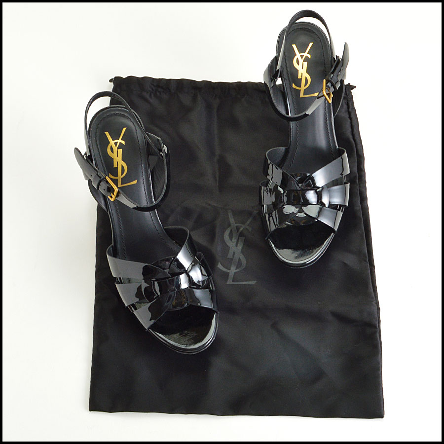 RDC8587 YSL black Tribute Heels includes