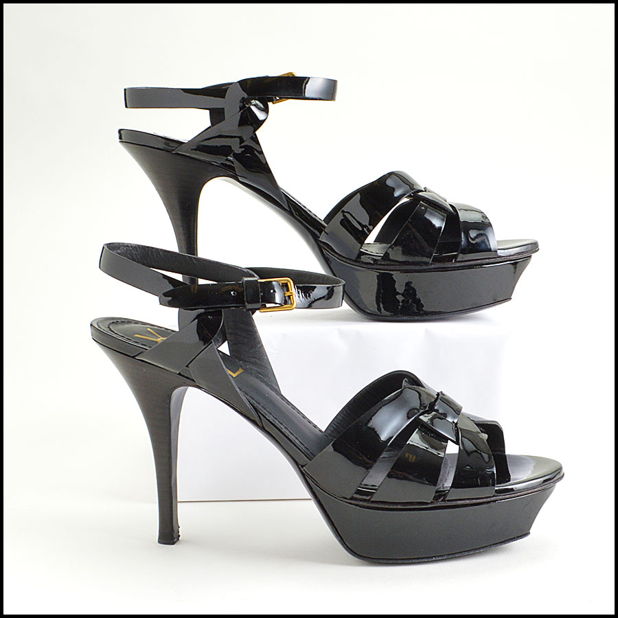 RDC8587 YSL black Tribute Heels side