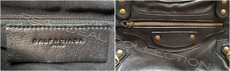 2001 Balenciaga Paris Inside Branding and Zipper Without Stops