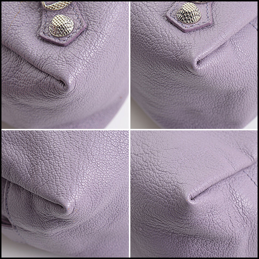 RDC10661 Balenciaga Glycine Lilac Silver Giant Pencil Case corners