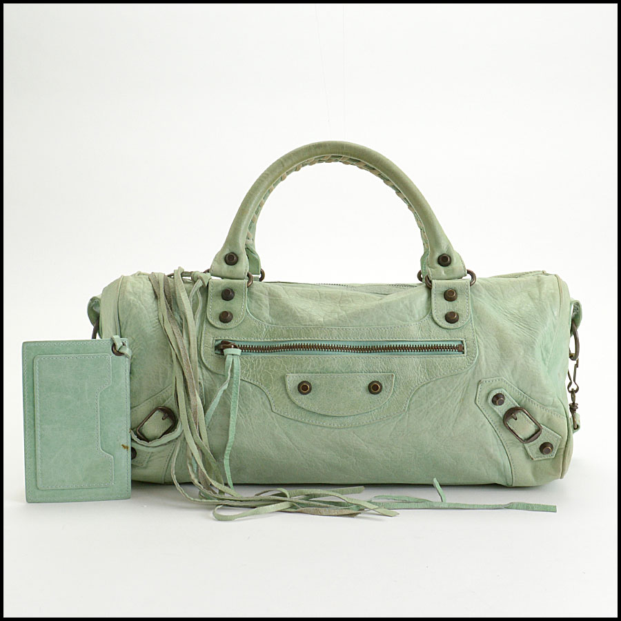 RDC10461 Balenciaga Light Green Twiggy Bag