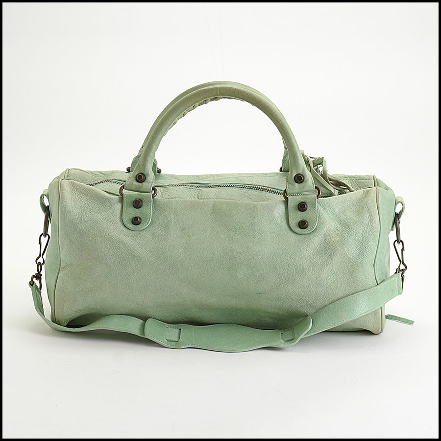 RDC10461 Balenciaga Light Green Twiggy Bag back