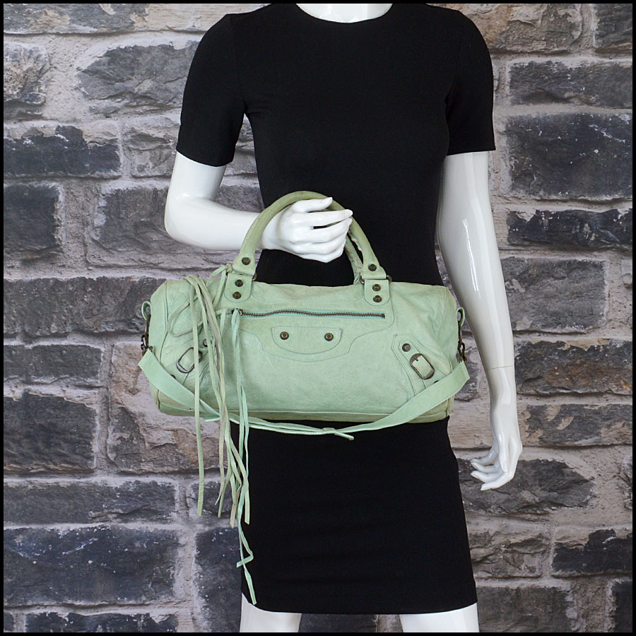 RDC10461 Balenciaga Light Green Twiggy Bag model