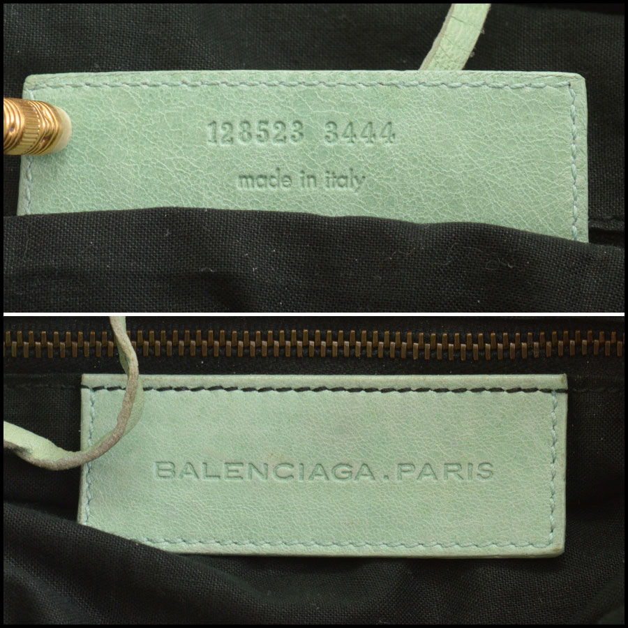 RDC10461 Balenciaga Light Green Twiggy Bag tag