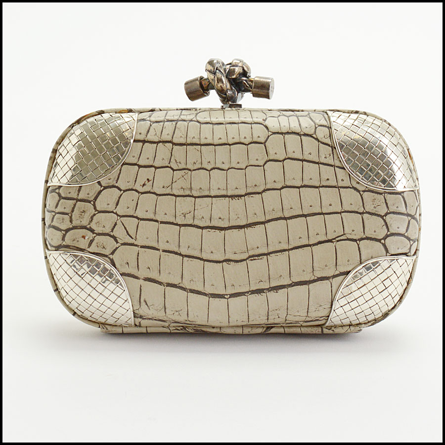 RDC10041 Bottega Veneta Croc Clutch back