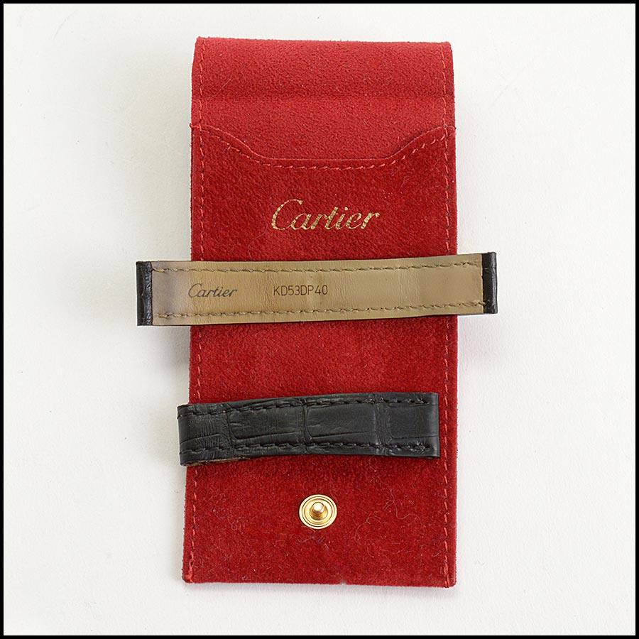 RDC11235 Cartier Black Alligator Watch Strap