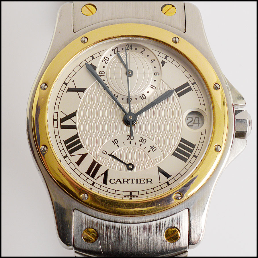 RDC10926 Cartier Santos Ronde Aviator Watch back