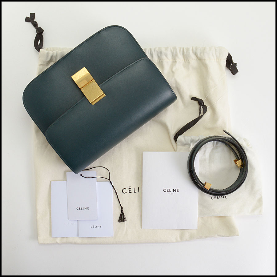 RDC10360 Celine Amazone Green Medium Classic Bag includes