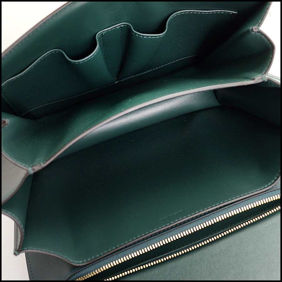 RDC10360 Celine Amazone Green Medium Classic Bag inside