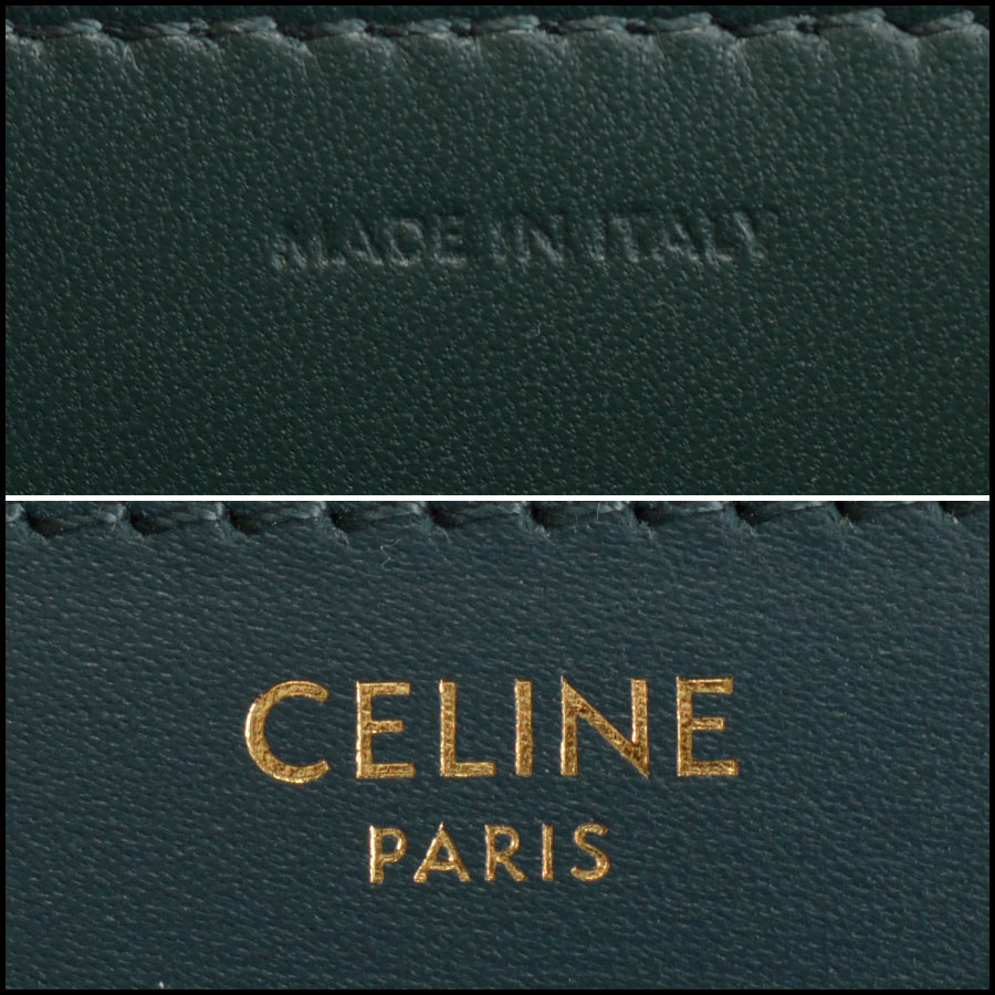 RDC10360 Celine Amazone Green Medium Classic Bag tag 2