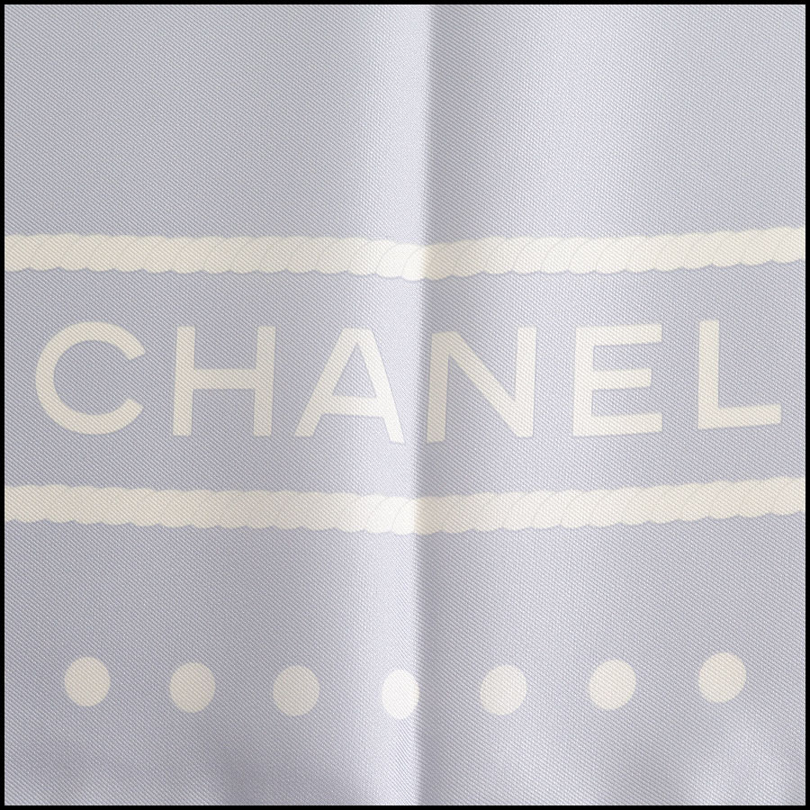 RDC10132 Chanel Blue Lion Scarf logo