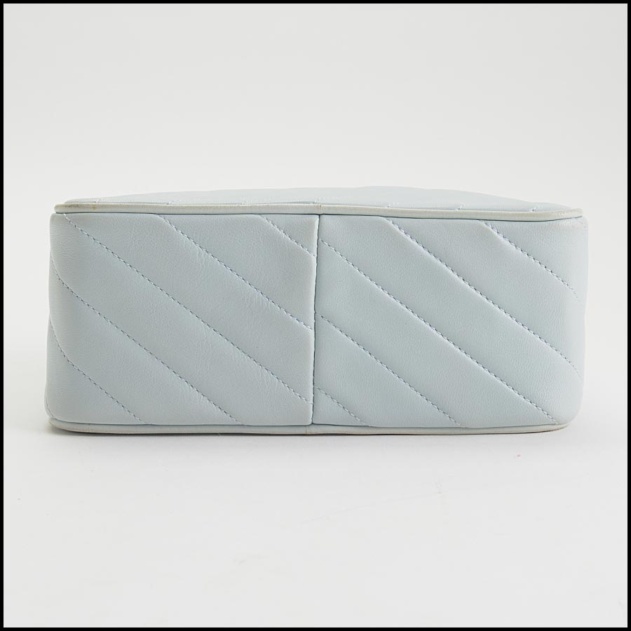 RDC11212 Chanel Light Blue Square Quilted Camera Bag bottom