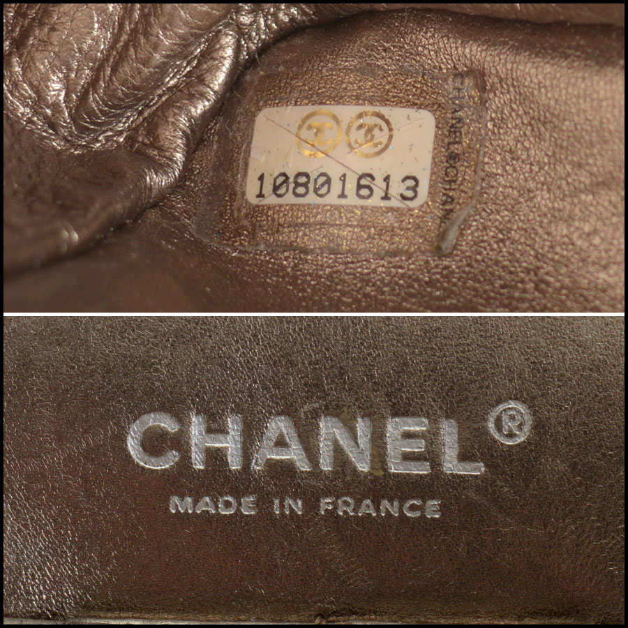 RDC10805 Chanel Bronze Aged Calfskin Reissue Classic Jumbo tag