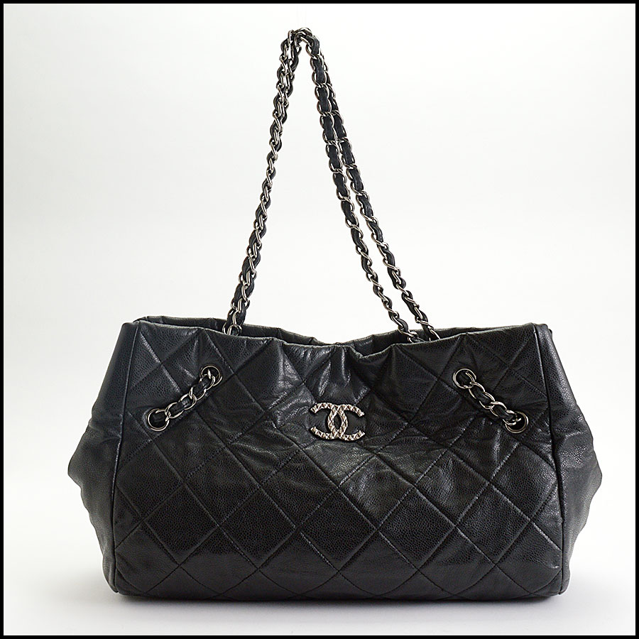 RDC10449 Chanel Black Medium Cells Tote