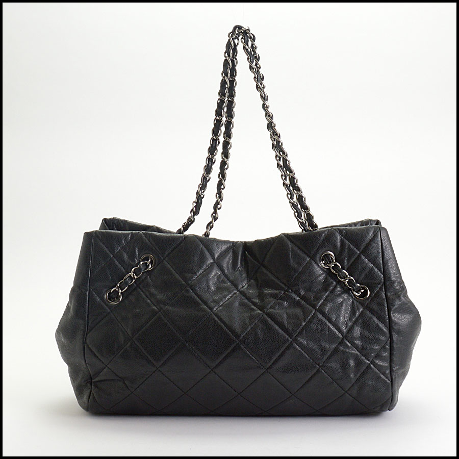 RDC10449 Chanel Black Medium Cells Tote back