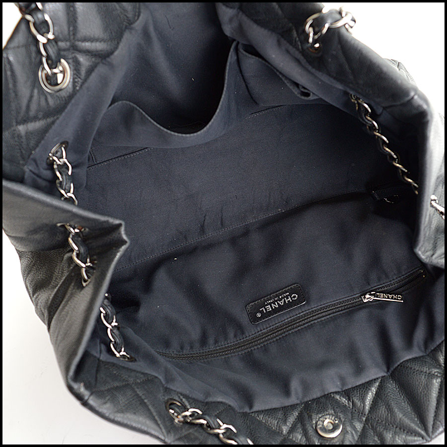 RDC10449 Chanel Black Medium Cells Tote inside