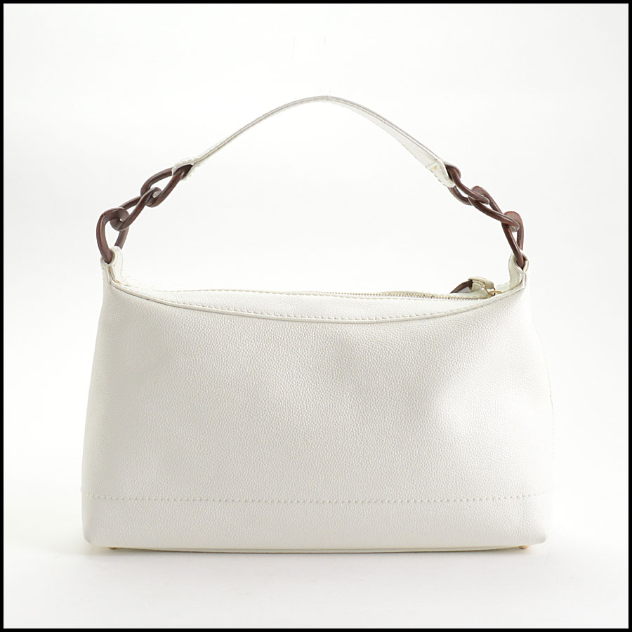 RDC10612 Chanel White Caviar Leather Sac Divers Bag back