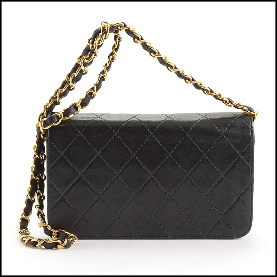 RDC10689 Chanel Black Quilted Lambskin Full Flap Evening Bag back