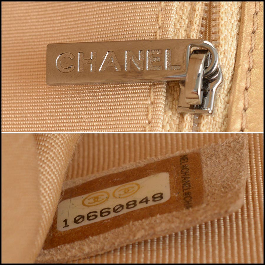 RDC11210 Chanel Gold Reissue Mademoiselle Turnlock Bag tag