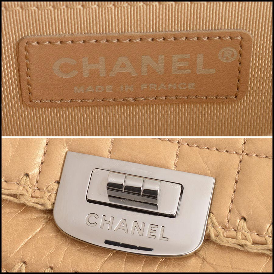 RDC11210 Chanel Gold Reissue Mademoiselle Turnlock Bag tag 1