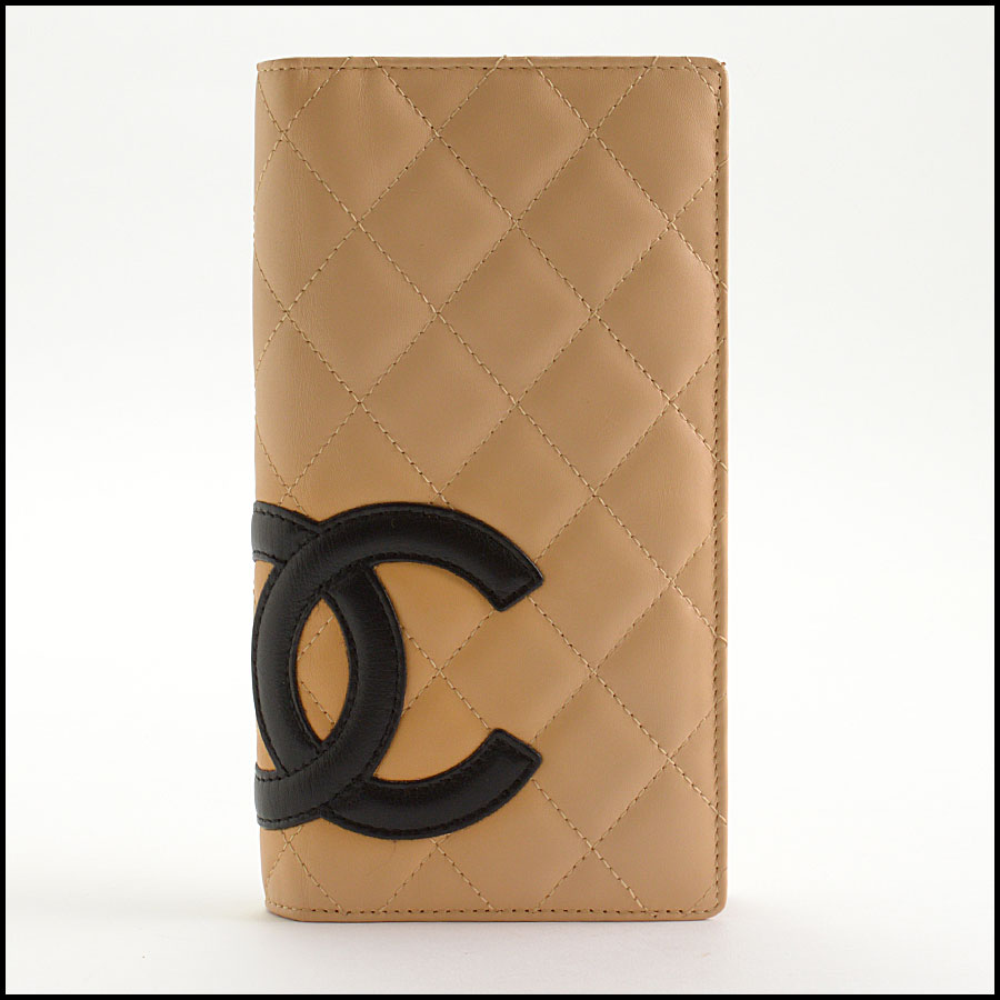 RDC11124 Chanel Beige Cambon Ligne Quilted Long Wallet