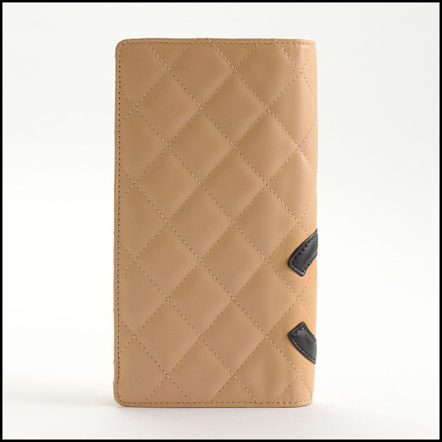 RDC11124 Chanel Beige Cambon Ligne Quilted Long Wallet back
