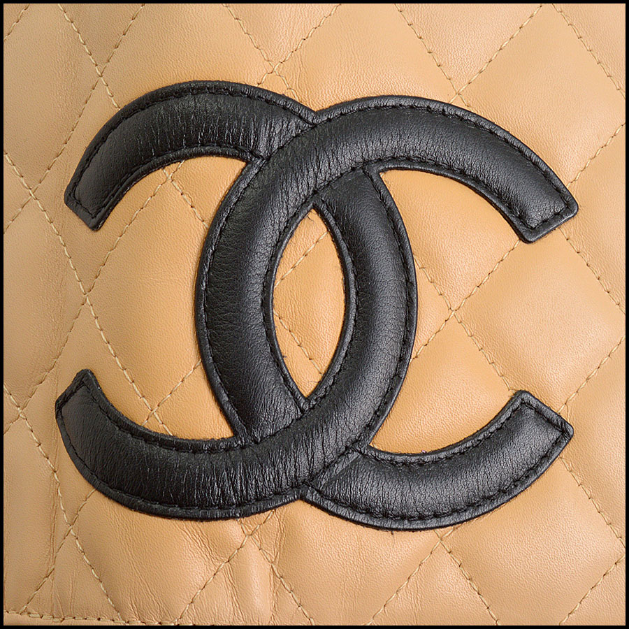 RDC11124 Chanel Beige Cambon Ligne Quilted Long Wallet logo