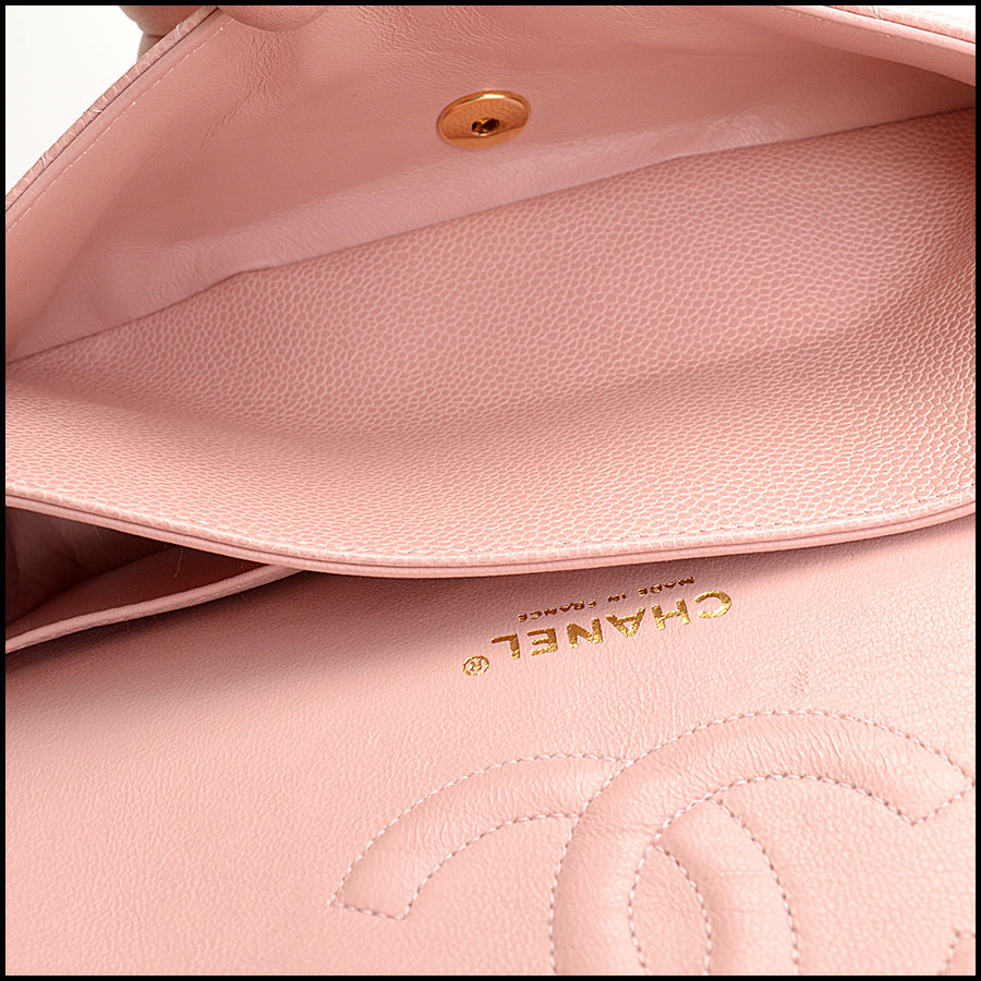 RDC10751 Chanel '04 Rose Pink Caviar Leather Med. Classic Double Flap inside 1