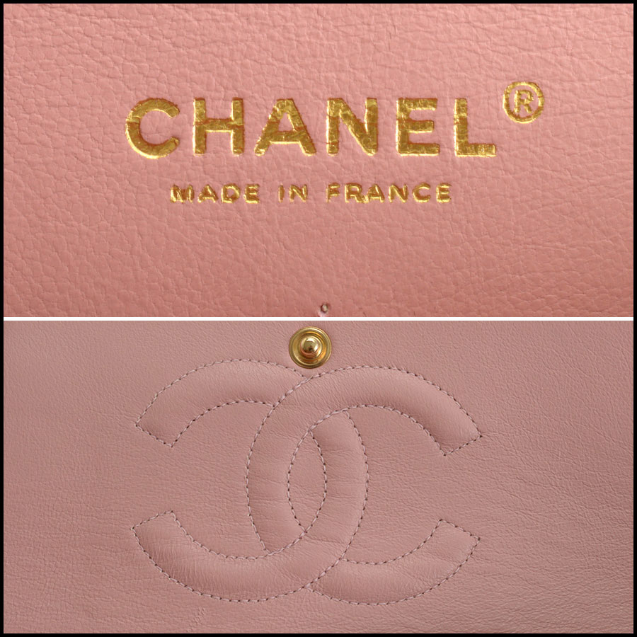 RDC10751 Chanel '04 Rose Pink Caviar Leather Med. Classic Double Flap tag 2