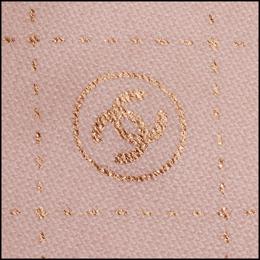 RDC11093 Chanel Pink Rose Gold Stamped Logo Wool Scarf logo