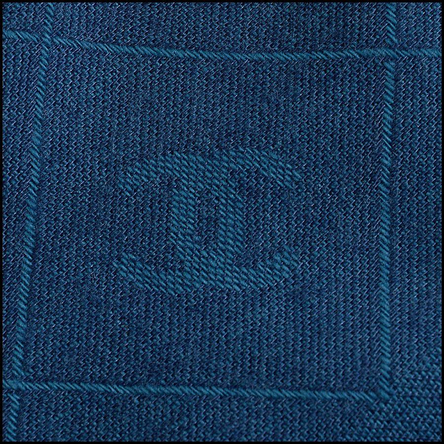 RDC10324 Chanel Teal Blue Cashmere/Silk Fringed Wrap close up