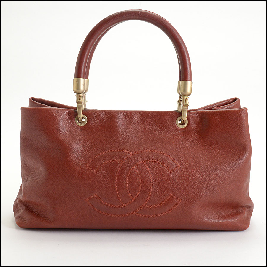 RDC10465 Chanel Terracotta Leather Timeless Tote Bag