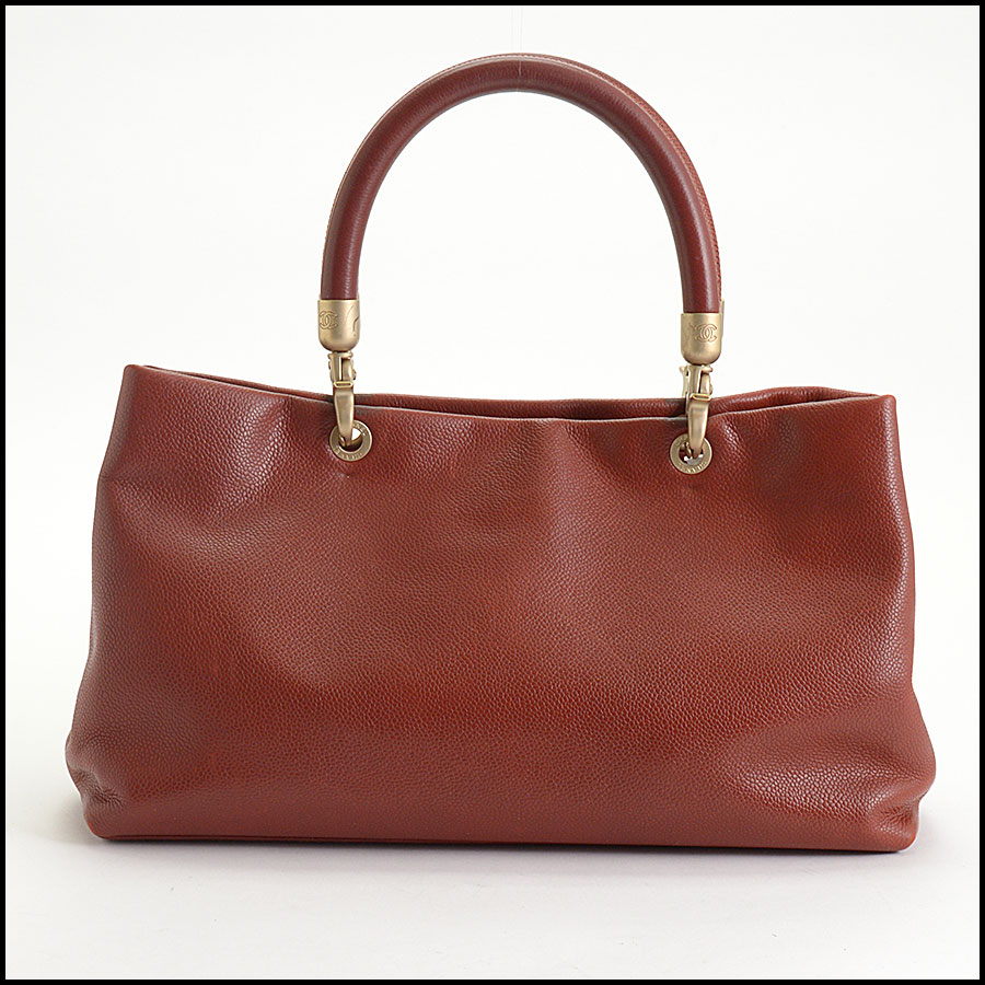 RDC10465 Chanel Terracotta Leather Timeless Tote Bag back