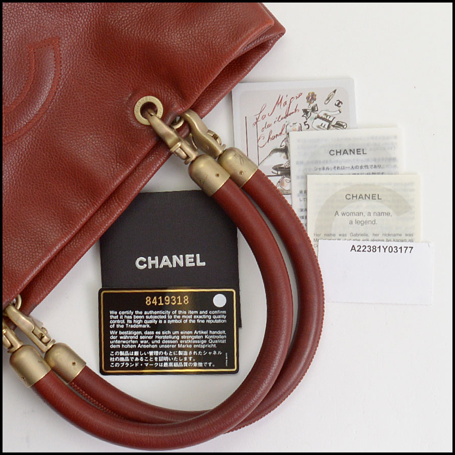 RDC10465 Chanel Terracotta Leather Timeless Tote Bag includes