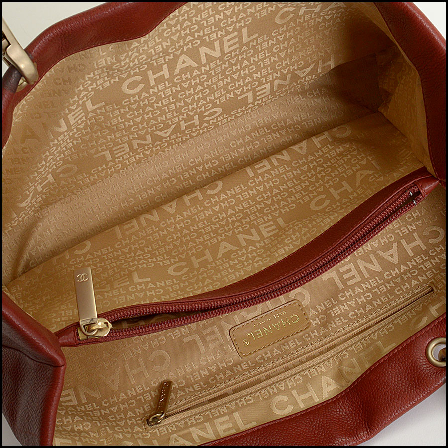 RDC10465 Chanel Terracotta Leather Timeless Tote Bag inside