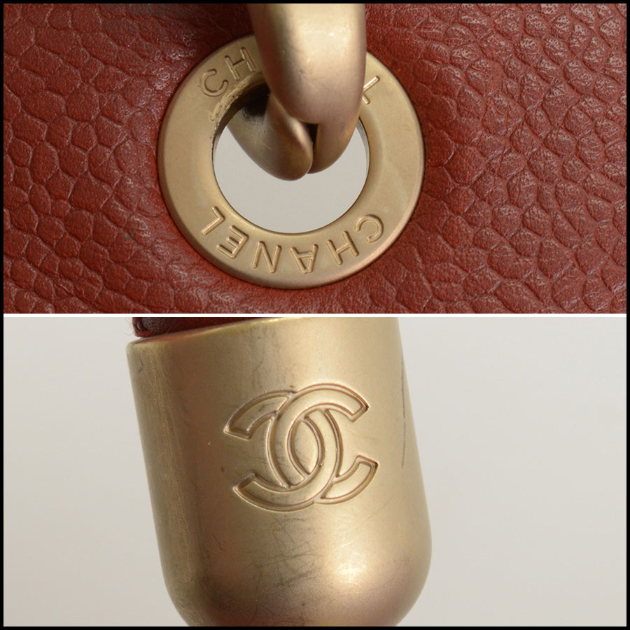 RDC10465 Chanel Terracotta Leather Timeless Tote Bag tag 1