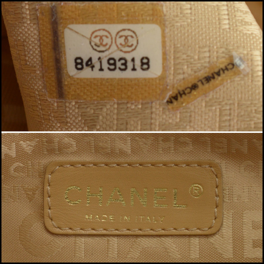 RDC10465 Chanel Terracotta Leather Timeless Tote Bag tag 2