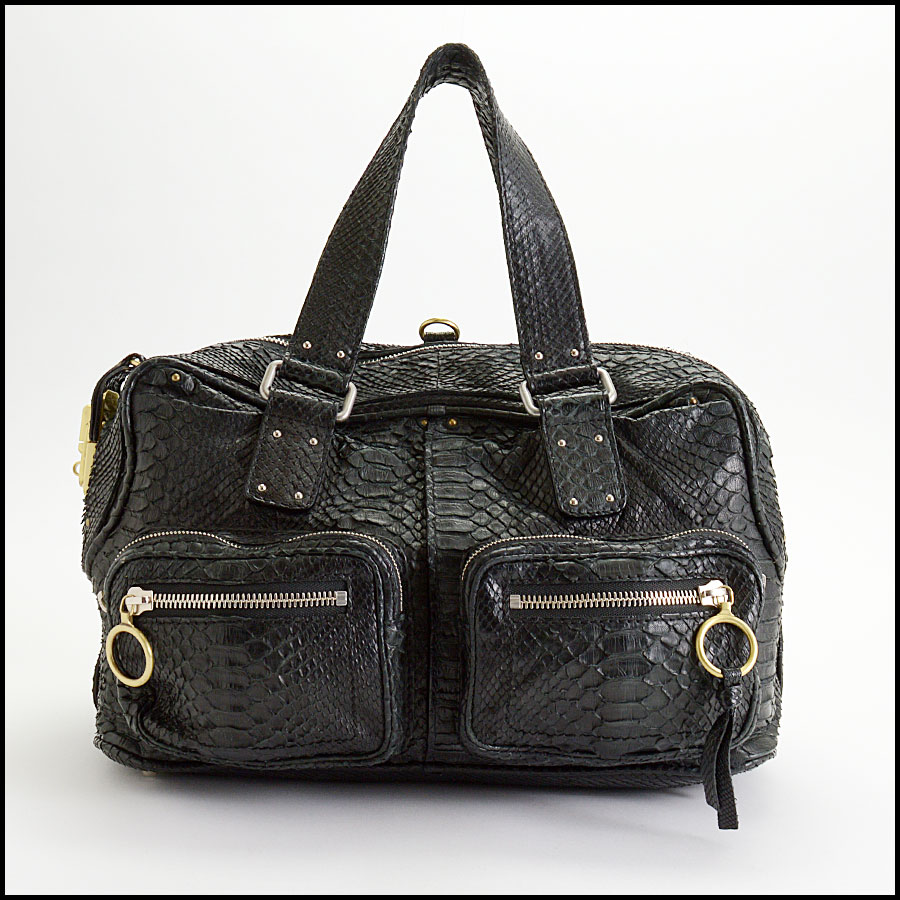 RDC10156 Chloe Black Python Betty