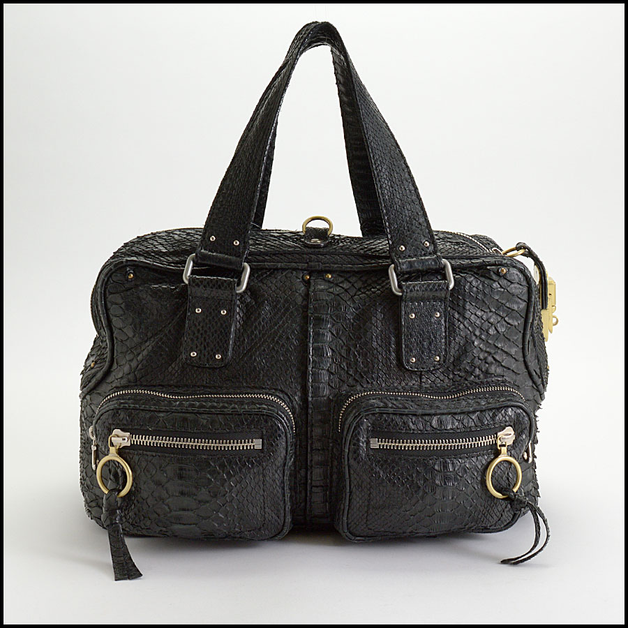 RDC10156 Chloe Black Python Betty back