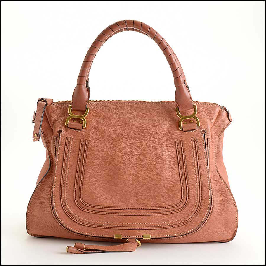 RDC11355 Chloe Salmon Leather Large Marcie Tote