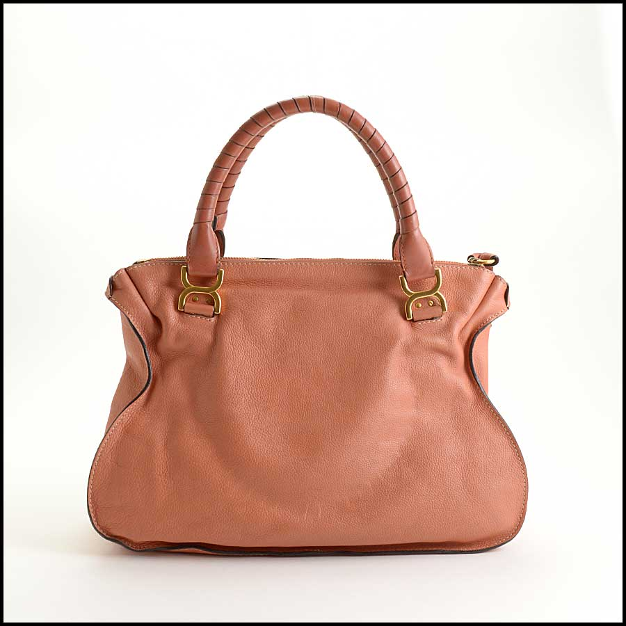 RDC11355 Chloe Salmon Leather Large Marcie Tote back